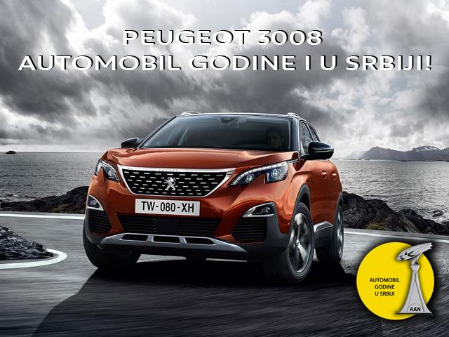 Peugeot 3008 automobil godine i u Srbiji !